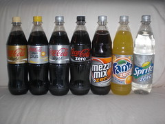 Coca Cola diet products line-up