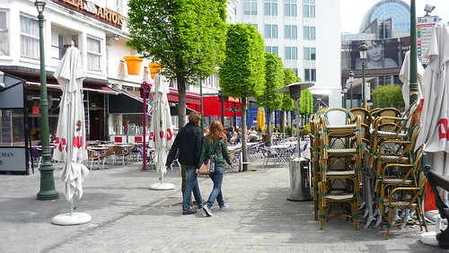 Place Luxembourg, empty on a Sunday afternoon