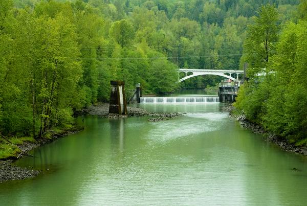 baker river at concrete