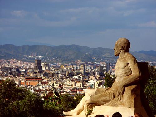 looking over barcelona