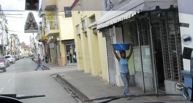 Street Scene Through Bus Window - Santo Domingo