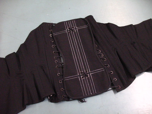 striped corset - modesty panel