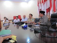 Treffen mit dem Bürgermeister von Bengkulu