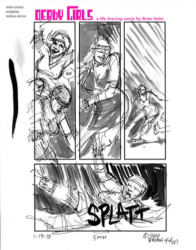 Dr Sketchys SF- Derby Girls comic page 4