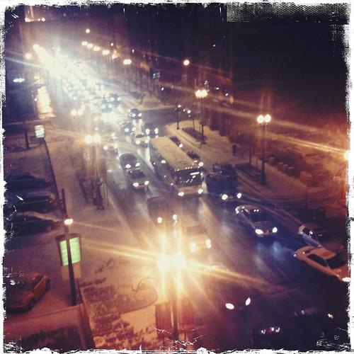 Evening cluster-rush sans
