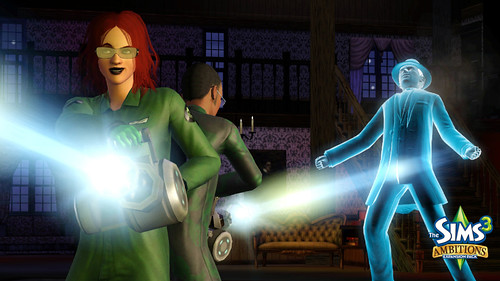 4/1/10 - Lone Ghostbusting screen from The Sims 3 Ambitions