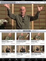 watching Shinzen Young videos on the iPad = ub...