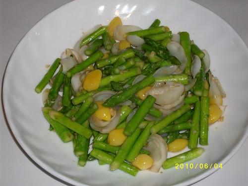 嫩露筍清炒白果鮮百合