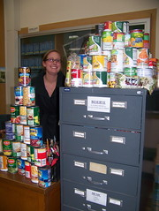 Jennifer Courtright with her Food for Fines project