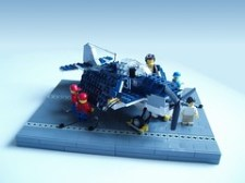 LEGO Wildcat fighter with folded wings