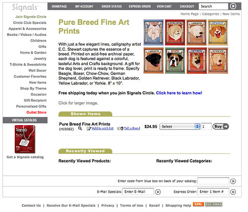 2010 Signals Catalog: Pure Breed Dogs