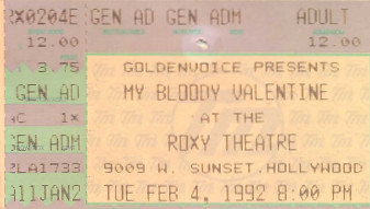 My Bloody Valentine, Roxy