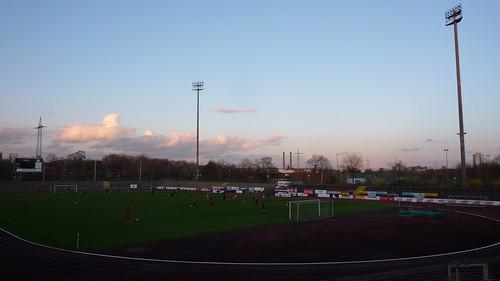 Sonnenuntergang über dem Südstadion