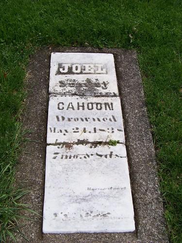 Joel Cahoon, drowned