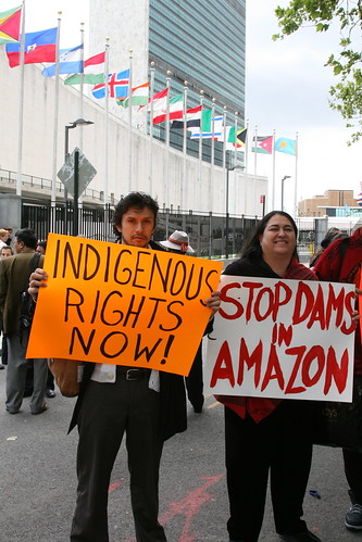 Indigenous Rights Now! Stop Dams in Amazon!