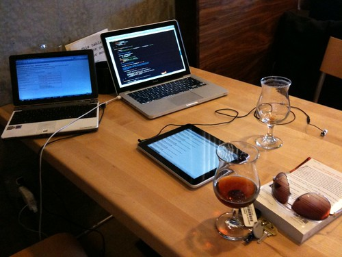 Hacking audio on the iPad with @rharmes at Epicenter Cafe