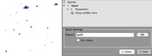 Gephi - simple filter