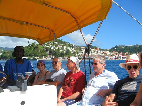 on the water taxi to grand anse