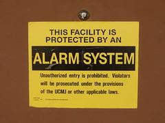Alarm System Sign
