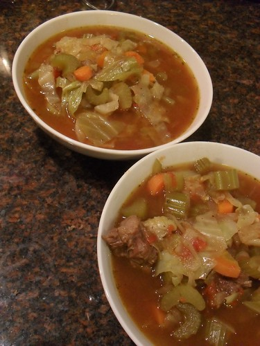 Beef Vegetable Soup with Cabbage