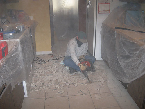 Kitchen Floor is Coming OUT