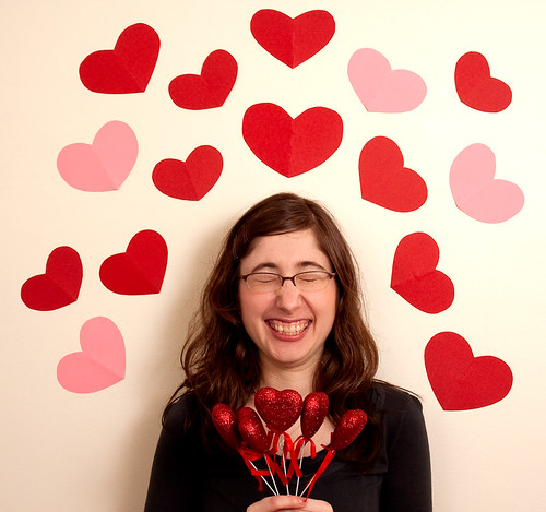 Ariane uses her Valentine powers to send out hearts into the world.