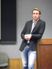 Phillipe Cousteau addresses the DEN group