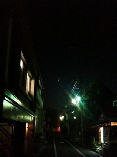 金星と三日月が並んでる
