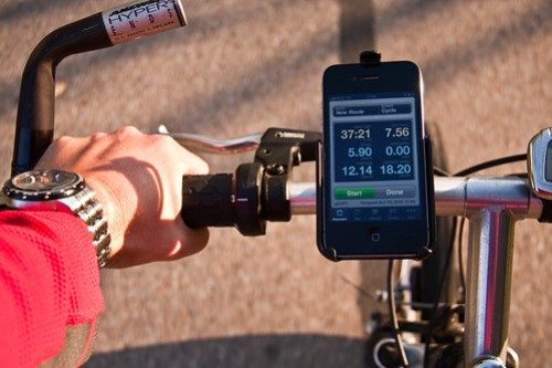 Cycling with Cyclemeter