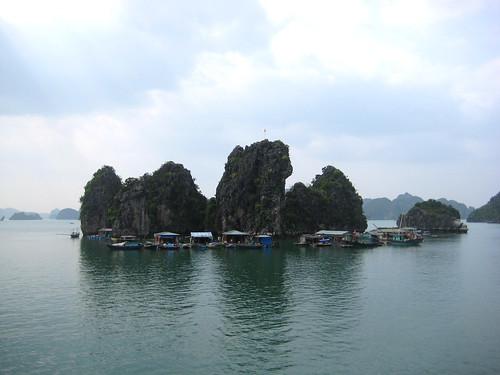village by the rocks (halong bay)
