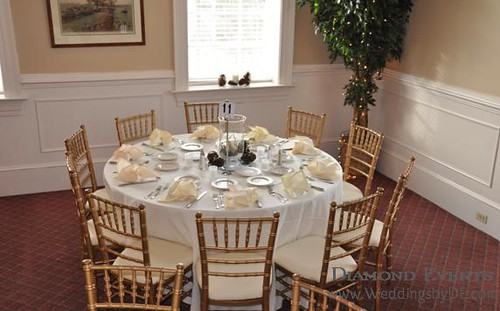 Table setting at Faquier Springs Country Club
