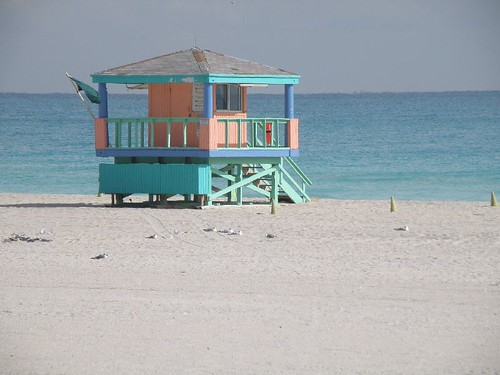 beach /guard shack-miami beach