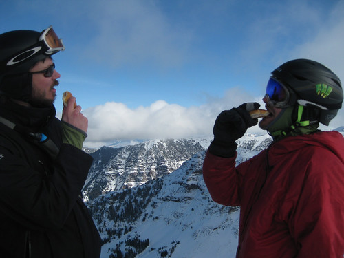 Mike and Sam - Summit Cheeseburger, Mt Blackmore