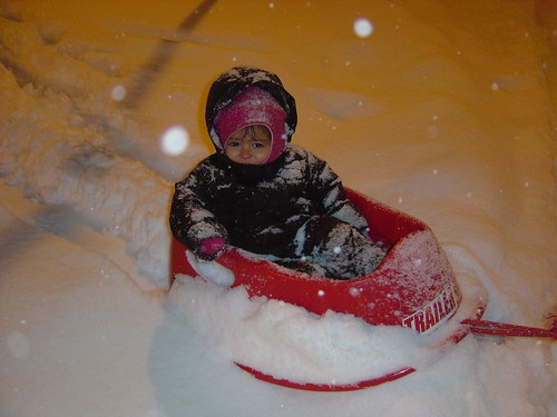 Girl's 1st Time Sledding