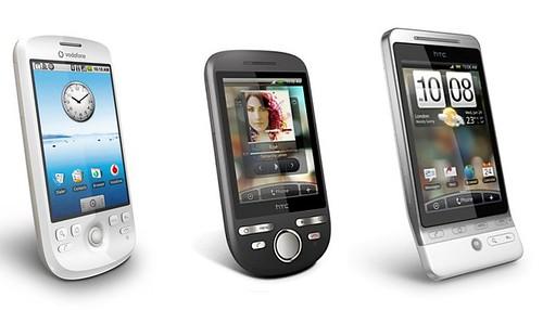 Terminales Android de HTC