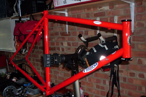 The Thorn Audax when it was still just a frame