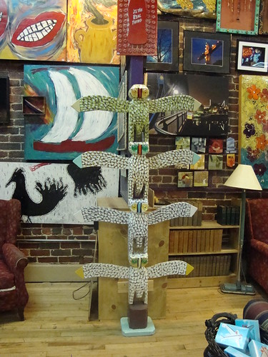JL Nipper Owl Totem at Winder Binder Gallery, Chattanooga TN
