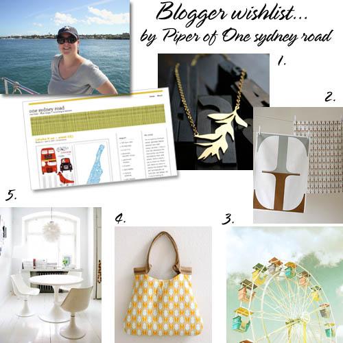 Blogger wishlist Piper