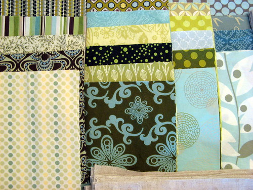 Asterisk Quilt Fabrics - detail of backgrounds