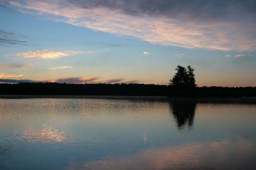 Sunrise on Big Clear Lake