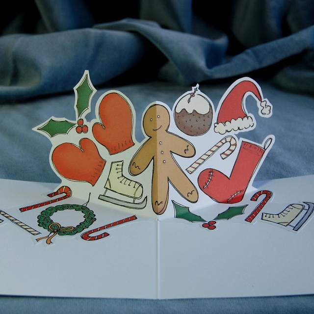 festive fun - pop up christmas card