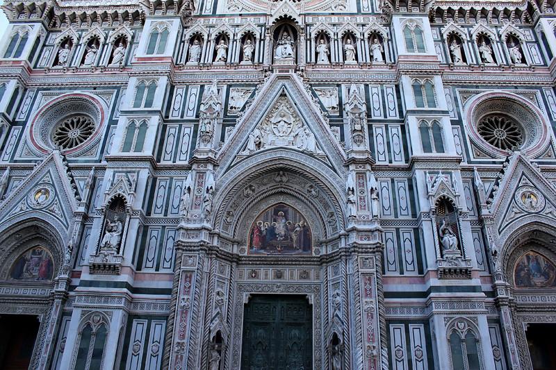 The beautiful facade of Basilica di Santa Maria del Fiore