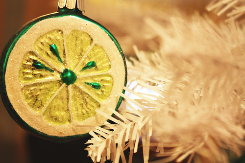 Lime Glass Ornament
