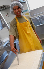 Cutting the tofu