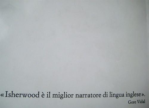 Christopher Isherwood, La violetta del Prater, Einaudi 1988, q. di cop., (part.)