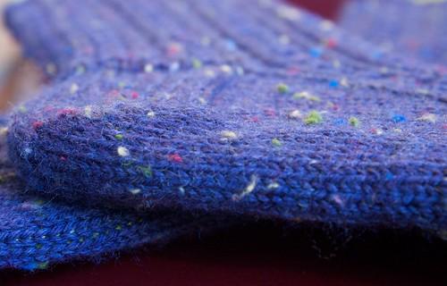 Retro Rib Socks: lousy tweed