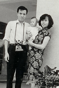 dad, mon and the 1 year old Agnes