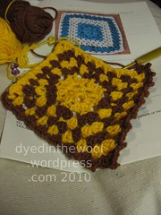 CAL January Craftster sq WIP (by dyedinthewool)