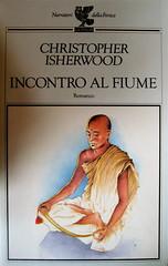 Christopher Isherwood, Incontro al fiume, Guanda 1994, alla cop.: ill. col. di Ezio Rolle, grafica di John Alcorn, (part.), 1