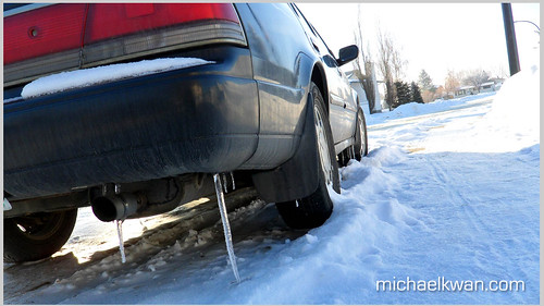 Icicle on Car Bumper